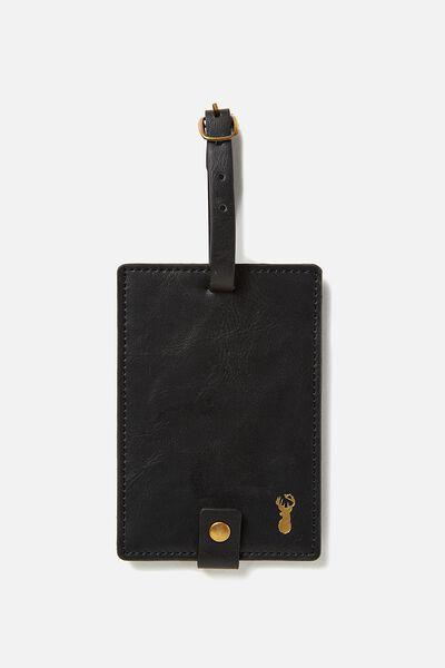 Buffalo Luggage Tag, BLACK