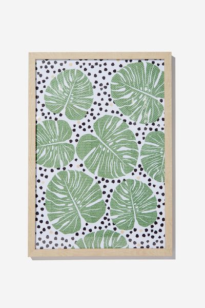 A3 Framed Print, POLKA LEAVES