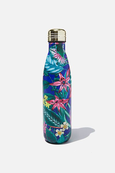 Metal Drink Bottle, RESORT FLORAL