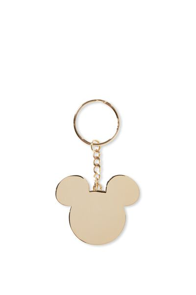 Enamel Keyring, LCN GOLD MICKEY HEAD