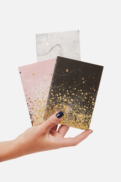 3Pk A6 Notebooks, MARBLE