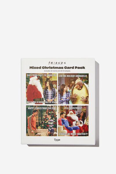 Christmas Card 20 Pack, LCN WB FRIENDS