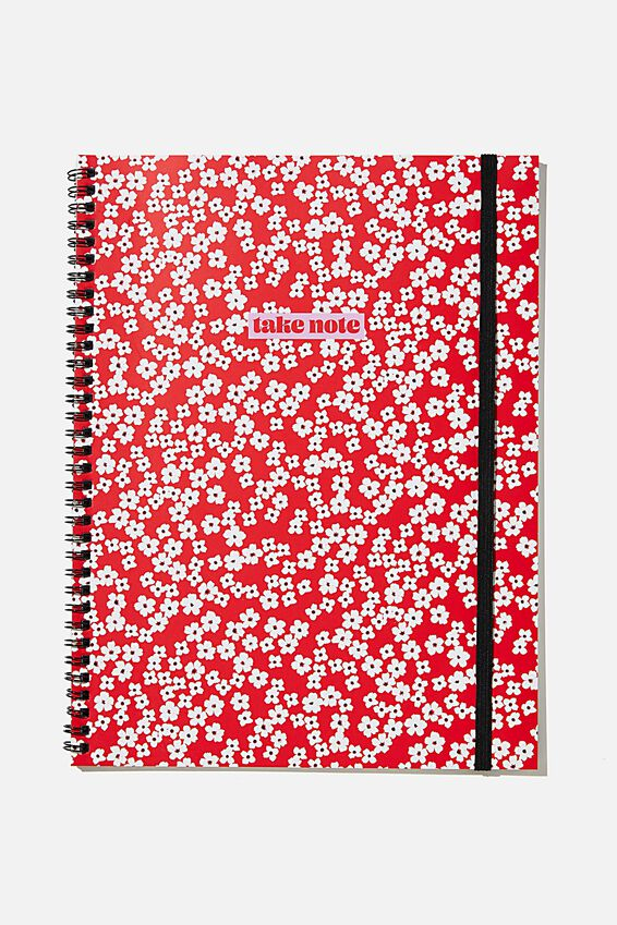 A4 Spinout Notebook Recycled, RG AS RED CHERRY BLOSSOM