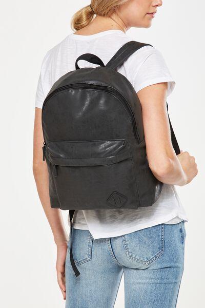 College Backpack, JET BLACK
