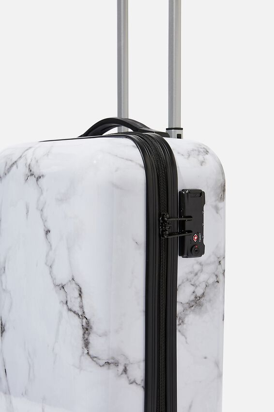 Tsa Small Suitcase, WHITE MARBLE