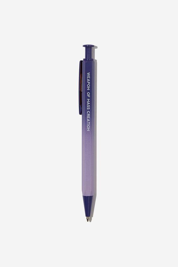 Hexe Metal Pen, BLUE OMBRE WEIRD