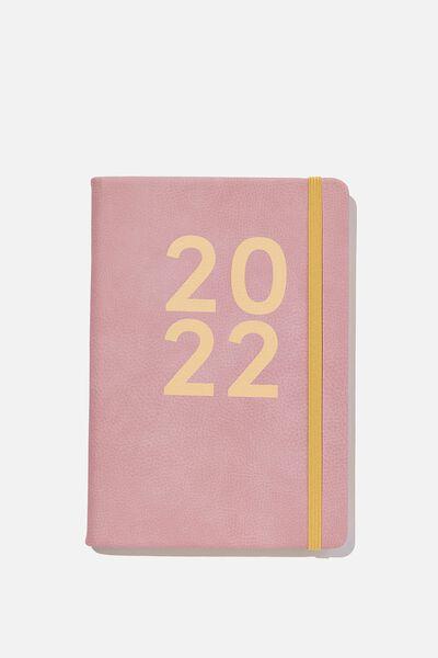 2022 A5 Weekly Buffalo Diary, DUSTY LILAC