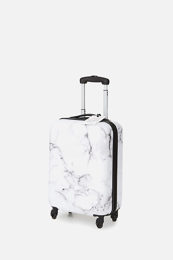 Small Suitcase, BLACK & WHITE MARBLE