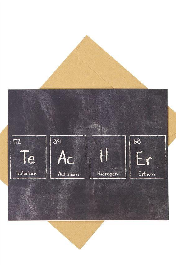 Teacher Card, TEACHER PERIODIC TABLE
