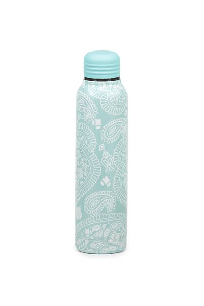 Small Metal Drink Bottle, WHITE LACE
