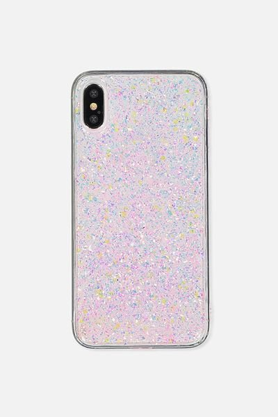 Transparent Phone Cover X, PINK FOILING
