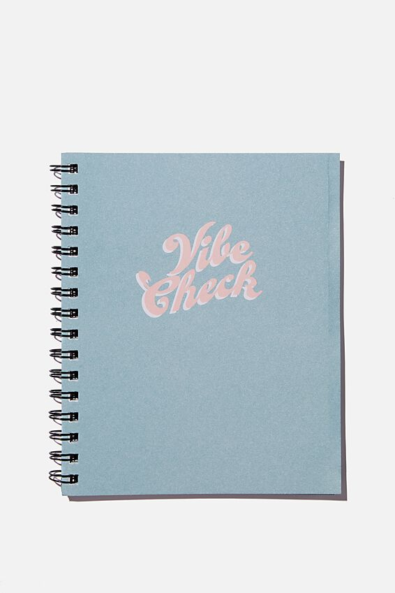 A5 Campus Notebook Recycled, VIBE CHECK