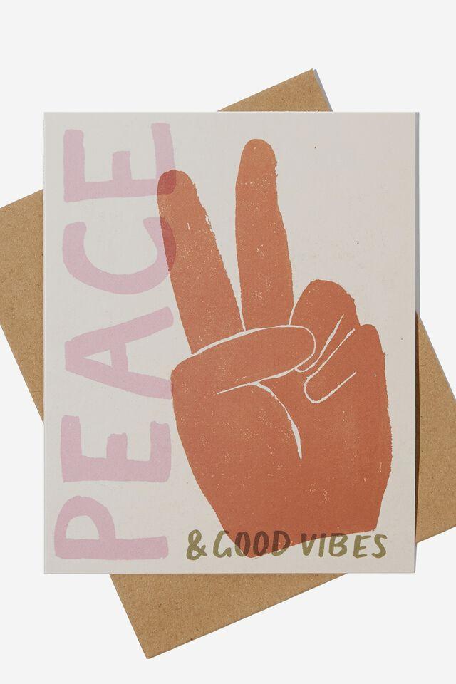 Nice Birthday Card, PEACE AND GOOD VIBES