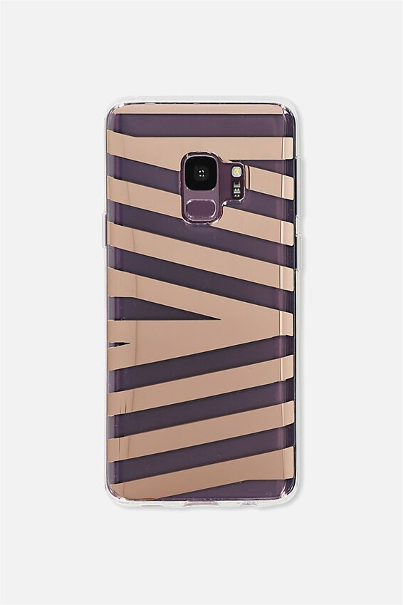 Phone Cover S9, ROSE GOLD STRIPE