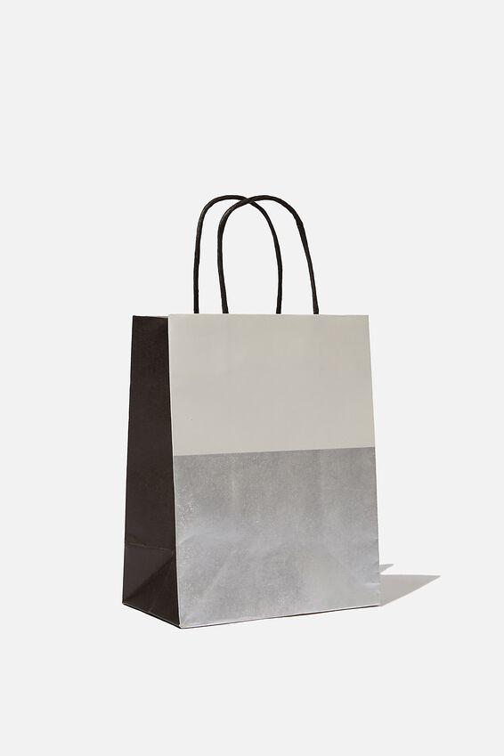 Get Stuffed Gift Bag - Small, GREY SILVER SPLICE