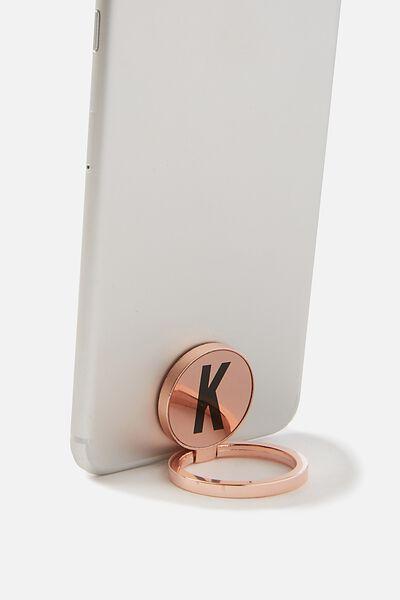 Metal Alpha Phone Ring, ROSE GOLD K