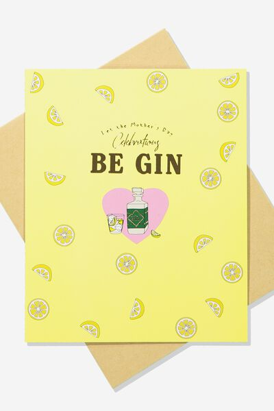 Premium Mothers Day Card, SCENTED GIN