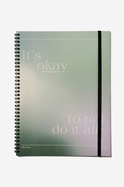 A4 Spinout Notebook Recycled, ITS OKAY TO NOT DO IT SOLARISED