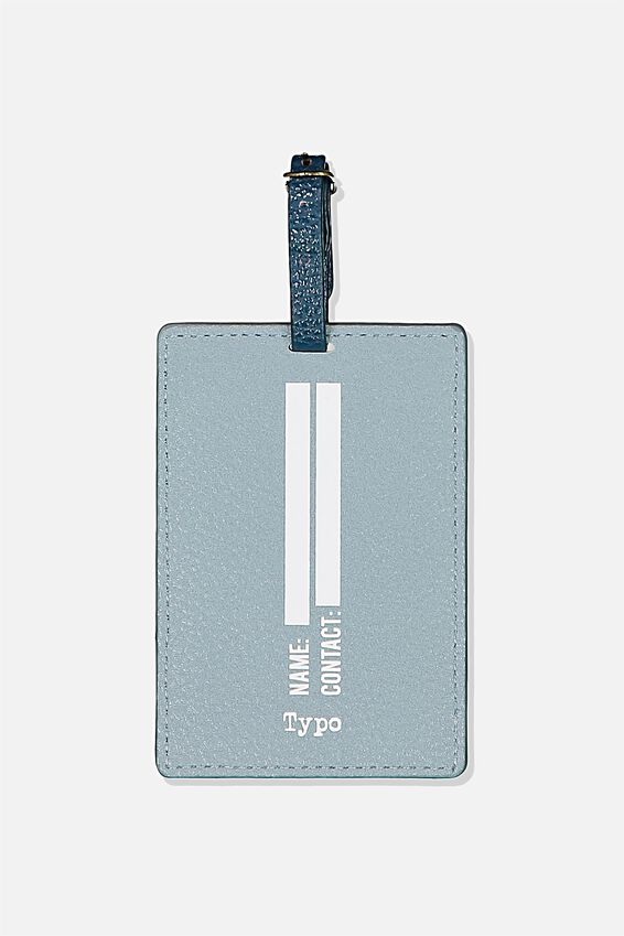 Shape Shifter Luggage Tag, BOARDING PASS DUSTY BLUE!