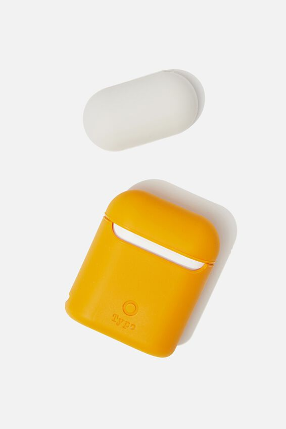 Ear Bud Sleeve, MUSTARD & BONE