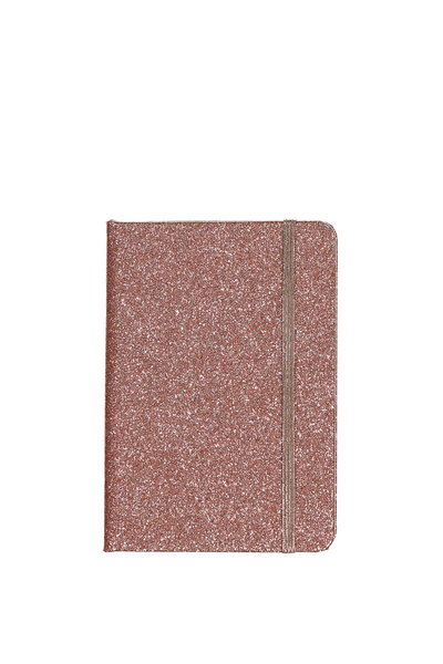 A6 Buffalo Journal, ROSE GOLD GLITTER