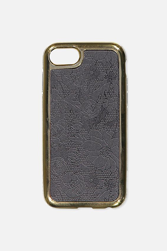 Superior Phone Case Universal 6,7,8, BLACK LACE
