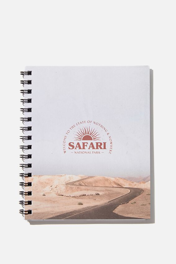 A5 Campus Notebook Recycled, SAFARI LANDSCAPE