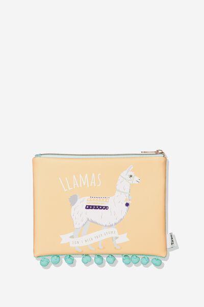Animal Pencil Case, LLAMA POMPOM