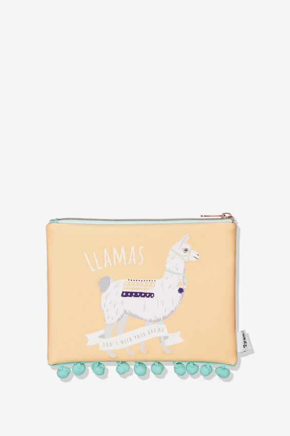 Animal Pencil Case, LLAMA POMPOM