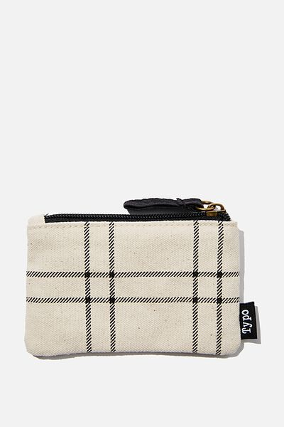 Coin Purse, DASHED GRID