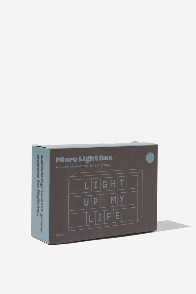 Micro Light Box, DENIM BLUE RECTANGLE