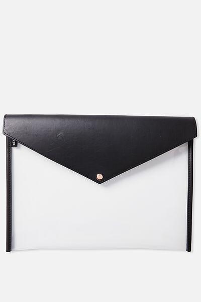 Buffalo Envelope Document Wallet, BLACK