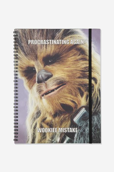 A4 Spinout Notebook Recycled, LCN LU CHEWY WOOKIE MISTAKE