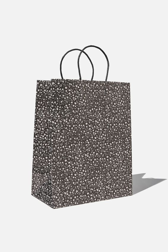 Get Stuffed Gift Bag - Medium, MEADOW DAISY BLACK