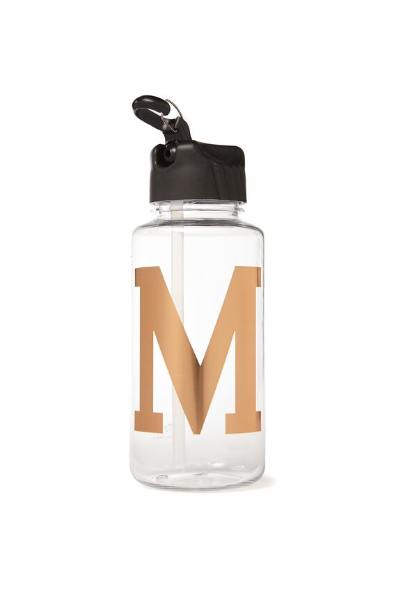 Alphabet Drink Bottle, ROSE GOLD M