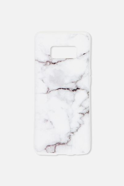 Phone Cover S8, WHITE MARBLE