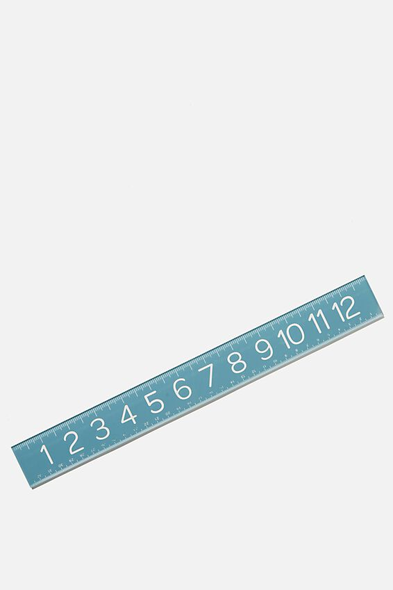 Thick Acrylic Ruler, DENIM BLUE