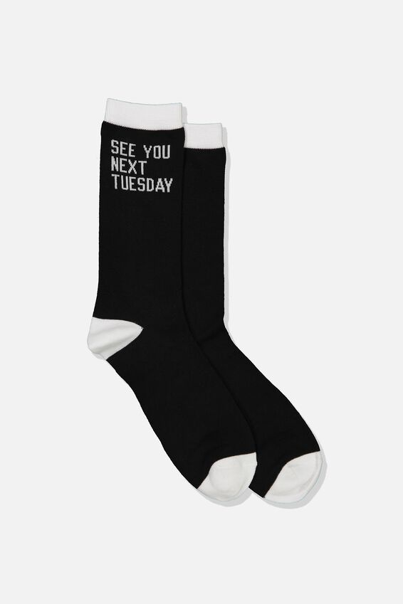 Mens Novelty Socks, SEE YOU NEXT TUESDAY!