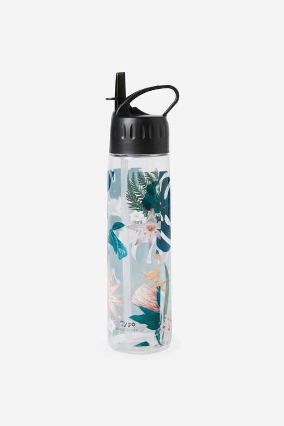 Refresher Water Bottle, JUNGLE FLORAL