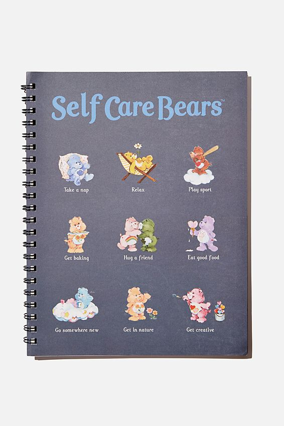 A4 Care Bears Campus Notebook Recycled, LCN CAREBEARS SELF CARE GUIDE