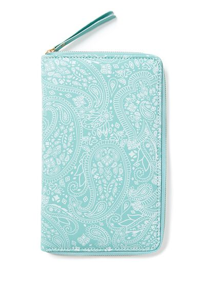 First Class Travel Wallet, WHITE LACE