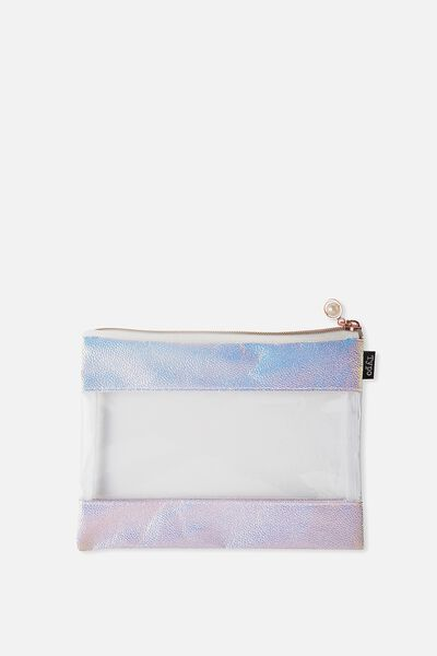 Banded Pencil Case, PEARL SHINE