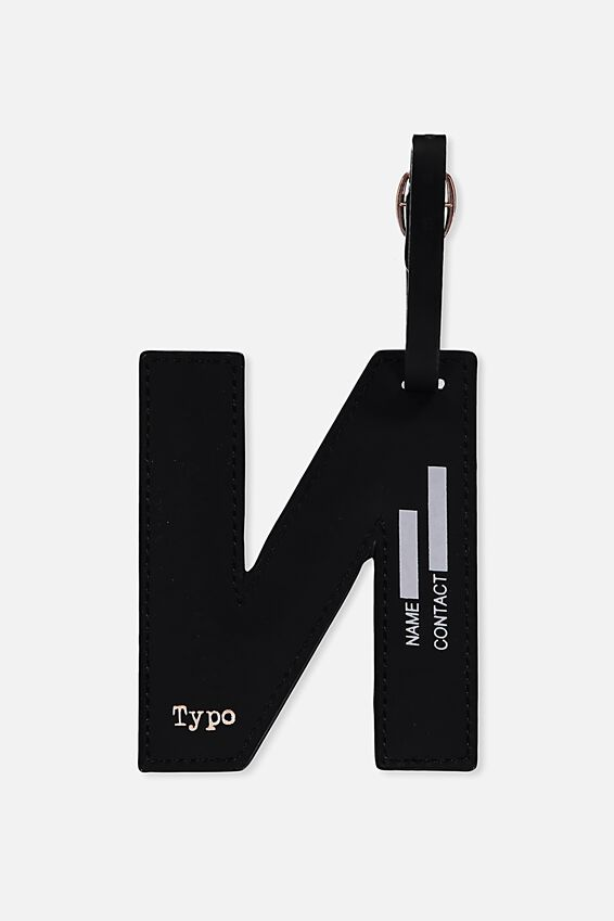 Shaped Alphabet Luggage Tag, N