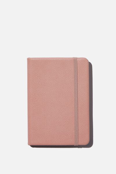 A6 Buffalo Dot Journal, DUSTY ROSE