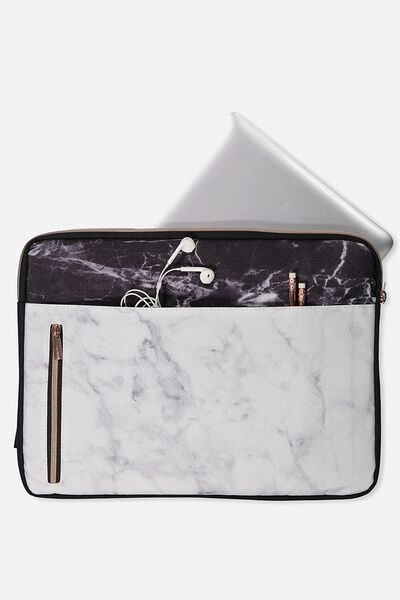 "Take Charge Laptop Cover 15"", MARBLE"