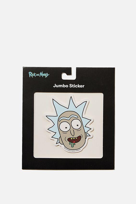 Rick & Morty Jumbo Sticker, LCN CNW RM RICK