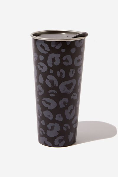 The Sipper Travel Mug, BLACK LEOPARD