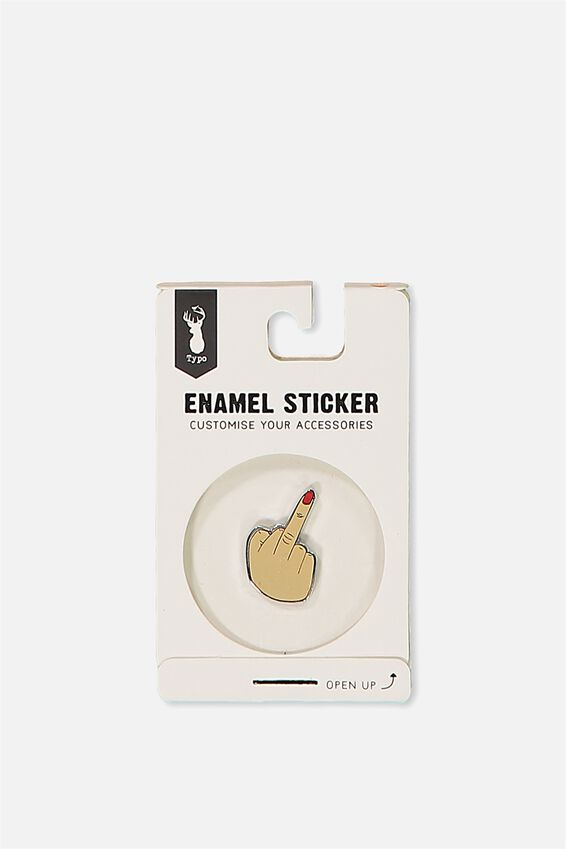 Enamel Stickers, RUDE FINGER!