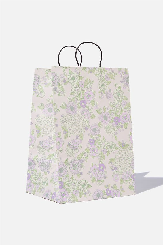 Get Stuffed Gift Bag - Large, MOLLY FLORAL MINT LILAC