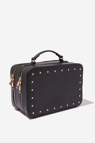 Premium Cosmetic Case, BLACK STUD